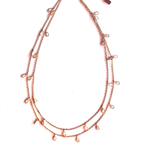Double Strand Opal Necklace