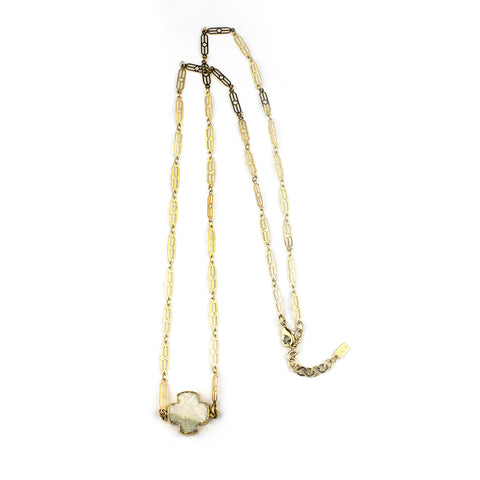 Druzzy Cross Belly Chain/ Necklace