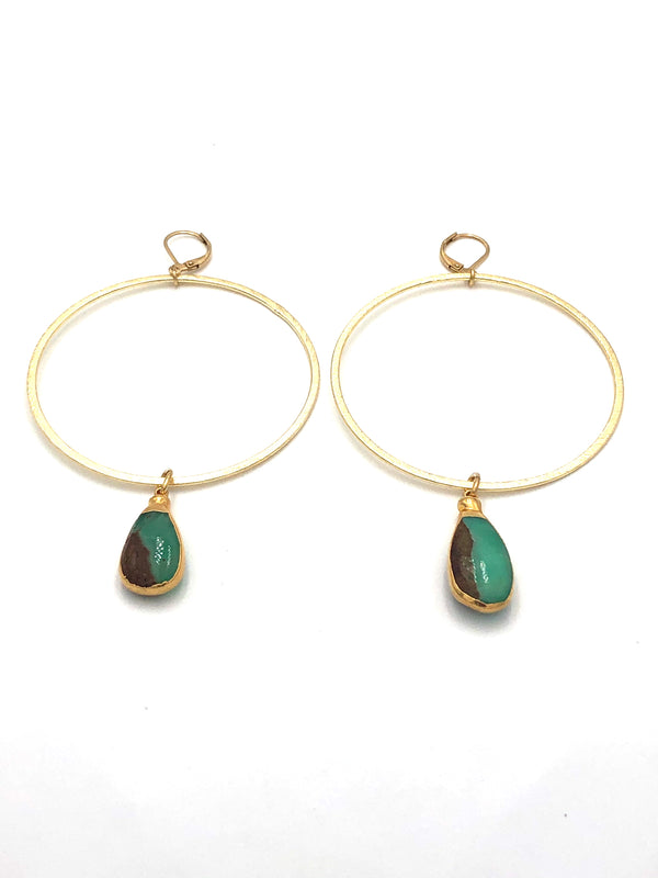 Chrysoprase Hoops