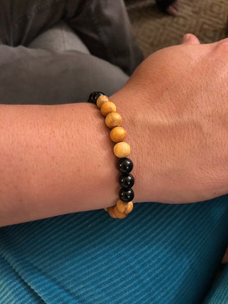 Palo Santo and Shungite Bead Bracelet