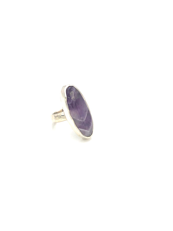 Chevron Amethyst Ring