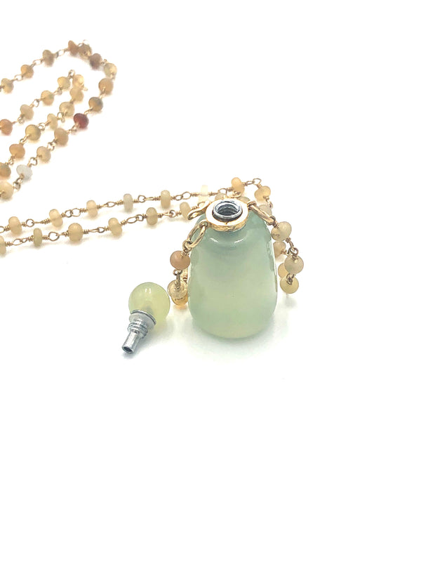Jade Perfume Bottle Necklace
