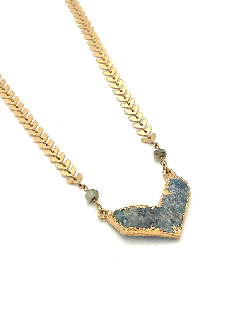 Agate Druzy Necklace