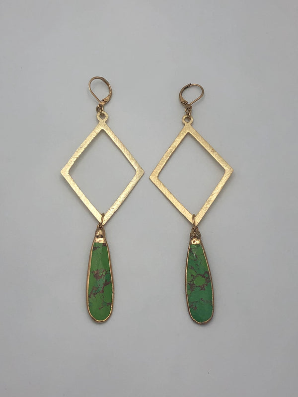 Green Turquoise Earrings I