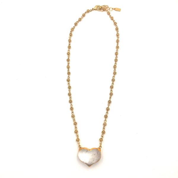Quartz Crystal Heart Necklace