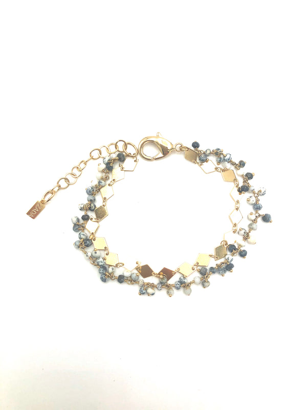 Dendritic Opal Double Bracelet