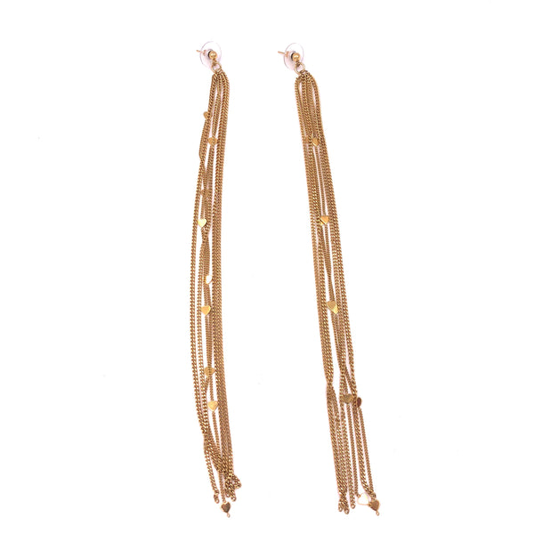 Gold Disco Fringe Earrings