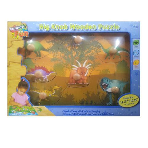 Big Knob Wooden Puzzle - Dinosaurs