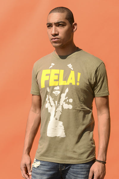 Fela Arms Up T-Shirt (Army Green)