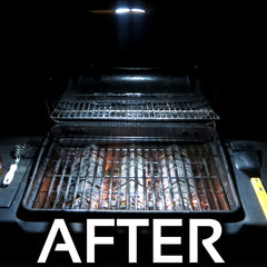 BBQ after using Grilluminator grill light