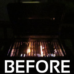 BBQ before using Grilluminator grill light