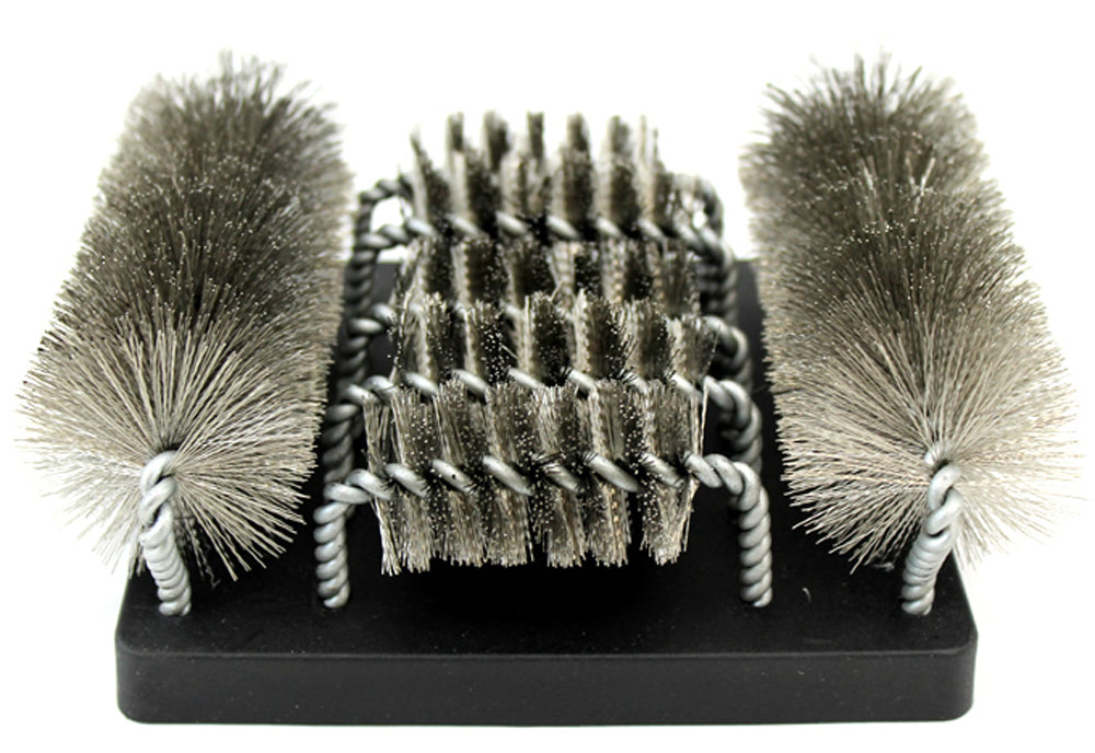 Grill Brush + Replaceable Brush Head Bundle