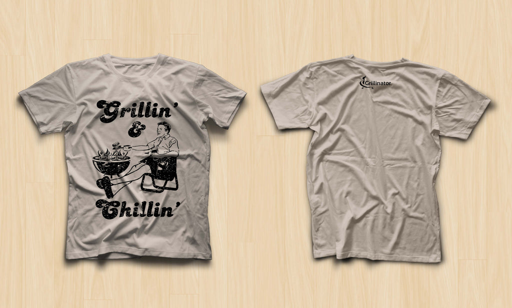"""Grillin & Chillin"" ULTRA COMFORT Vintage BBQ LIFESTYLE T-SHIRT"