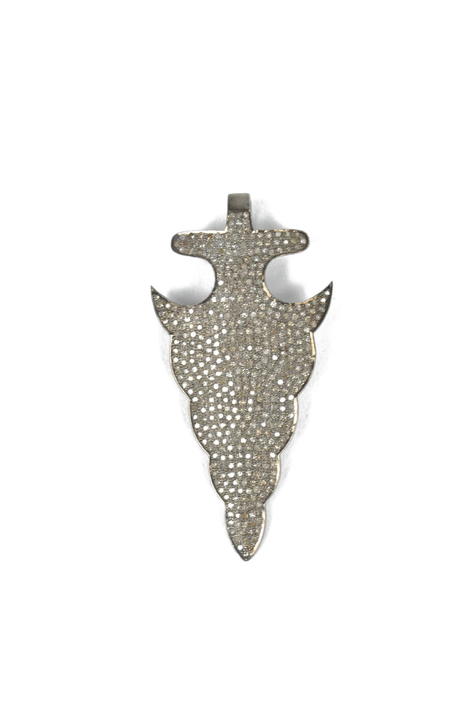 Large Pavé Diamond Arrowhead
