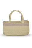Handwoven Tote-Natural and Lavender