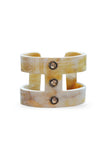 Triple Diamond Horn Cuff