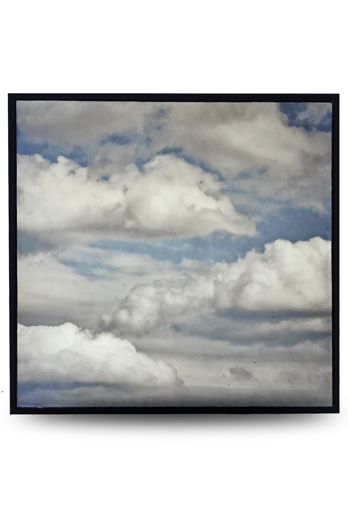 "Clouds Encaustic Photo (24""x 24"") by Catherine Erb"