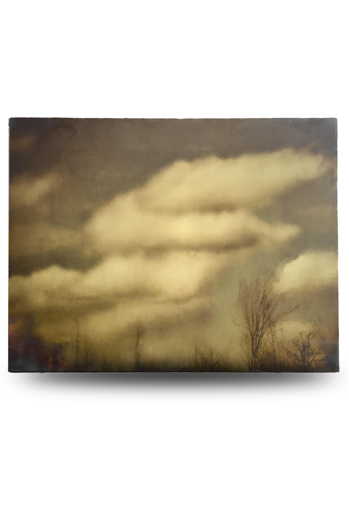 "Soft Clouds Encaustic Photo (36""x 48"") by Catherine Erb"