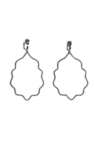 Bone and Pavé Diamond Earrings