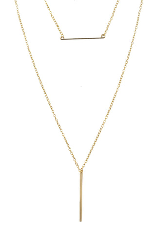 Double Bar Necklace