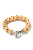 Snake Vertebrae and Diamond Bracelet-Tan
