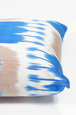 Vibrant Silk Ikat Pillow