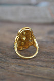 Gold and Rose Cut Diamond Ring