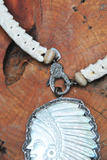 White Snake Vertebrae Necklace with Diamond Lobster Clasp
