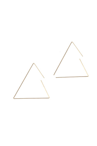 Large Gold Triangle Earrings