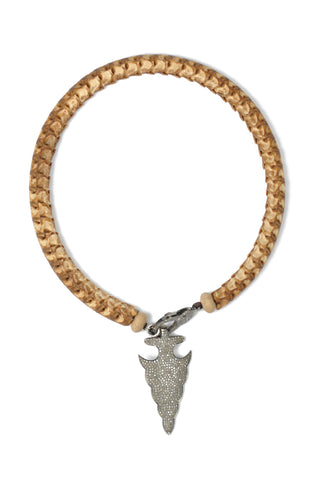 Brown Snake Vertebrae Necklace with Diamond Lobster Clasp