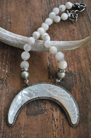 Tahitian Pearl Double Tusk Necklace
