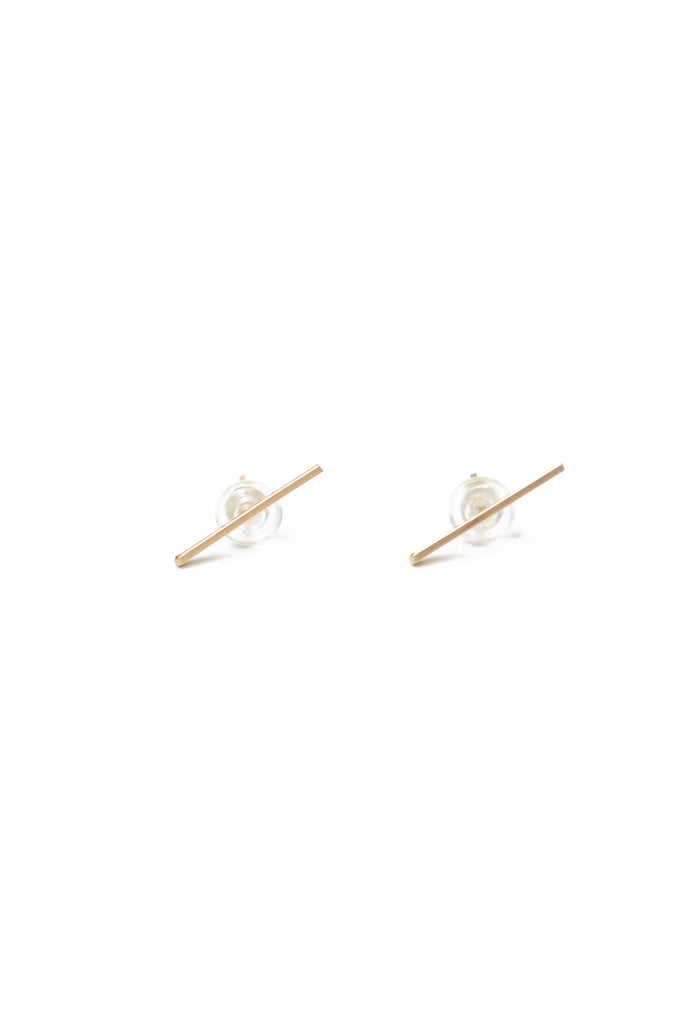 Mini Gold Staple Earrings