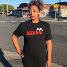 MIXXEDFIT® XX DRIP CLASSIC TEE | BLACK WITH RED