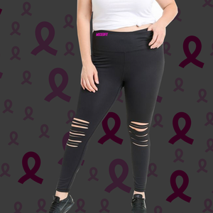 THE VICTORY COLLECTION | MIXXEDFIT® LASER CUT HIGH WAIST LEGGINGS
