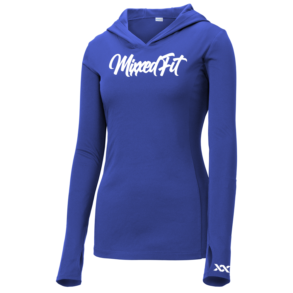 SCRIPTED MIXXEDFIT® POSI-CHARGE HOODED DRIFIT | TRUE BLUE