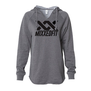 WOMENS | MIXXEDFIT® WAVE WASH HOODED PULLOVER | SHADOW