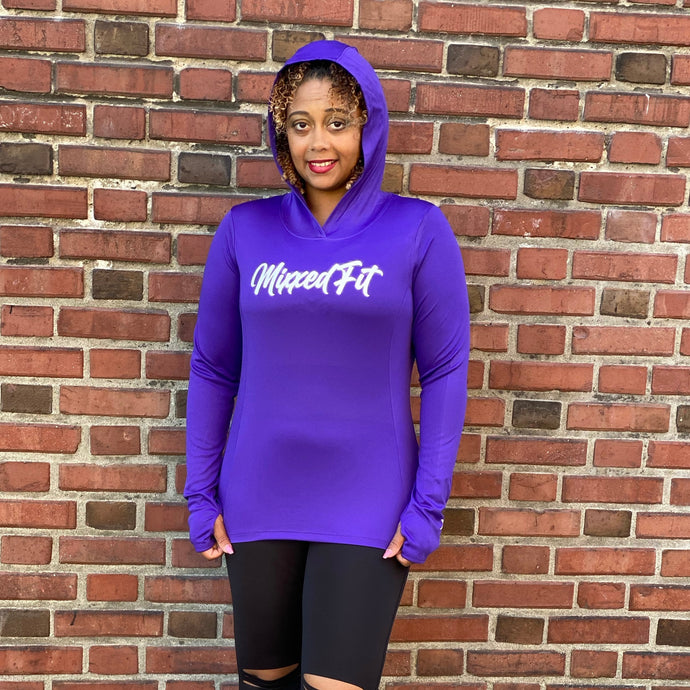 SCRIPTED MIXXEDFIT® POSI-CHARGE HOODED DRIFIT | PURPLE