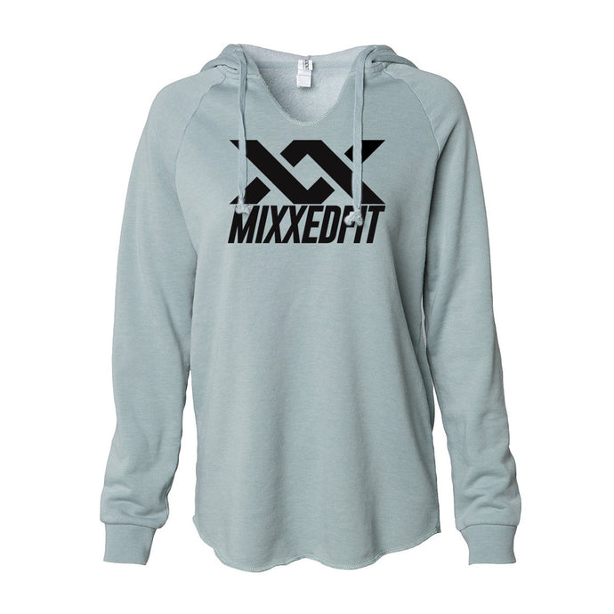 WOMENS | MIXXEDFIT® WAVE WASH HOODED PULLOVER | SAGE