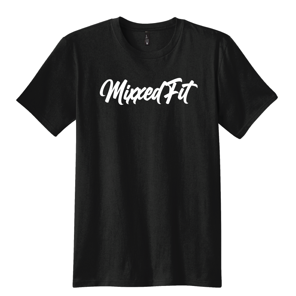 MIXXEDFIT® CLASSIC TEE  | SPRING BLACK WITH WHITE
