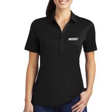 WOMENS MIXXEDFIT POLO | BLACK