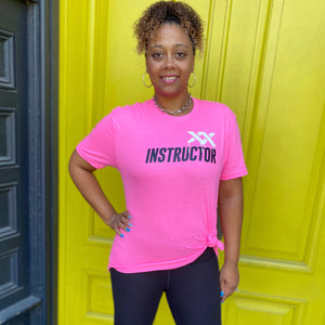 MIXXEDFIT® XX DRIP INSTRUCTOR TEE | HOT PINK