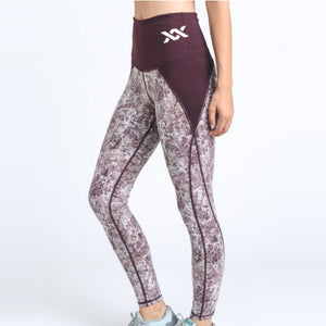 HOME WORKOUTS | MIXXEDFIT MARBLED LEGGING | PLUM