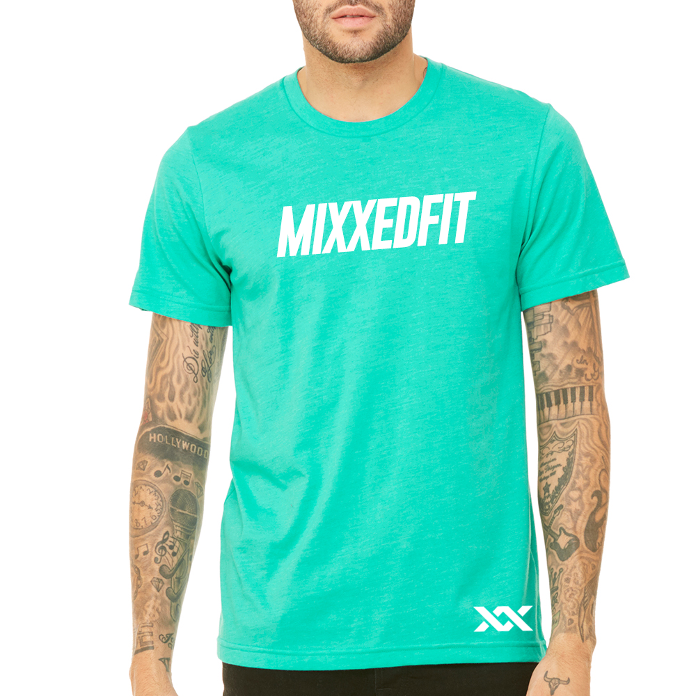 MIXXEDFIT® CLASSIC TEE | HEATHER SEA GREEN