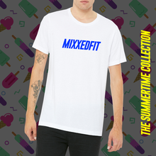 MIXXEDFIT® CLASSIC TEE | WHITE WITH BLUE