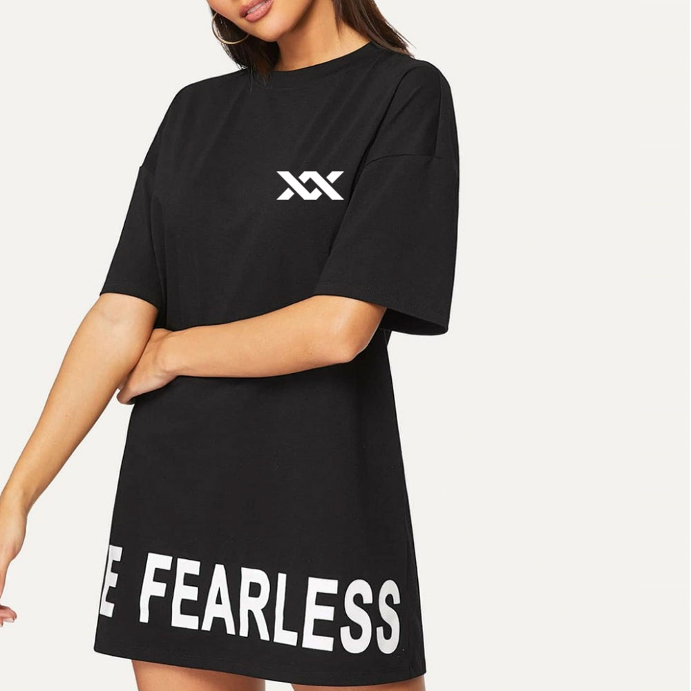 LAST CALL| MIXXEDFIT BE FEARLESS LONG LINE TEE