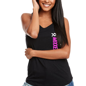 RACERBACK TANK | BLACK WITH PINK