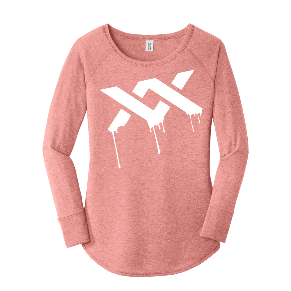 MIXXEDFIT® LADIES LONG SLEEVE TUNIC TEE | BLUSH FROST