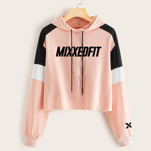THE PINK COLLECTION | MIXXEDFIT® COLOR BLOCK HOODIE