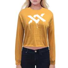 MIXXEDFIT® BOYFRIEND LONG SLEEVE CROP T-SHIRT | GOLD