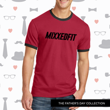 MENS | MIXXEDFIT® CORE TEE | RED WITH BLACK